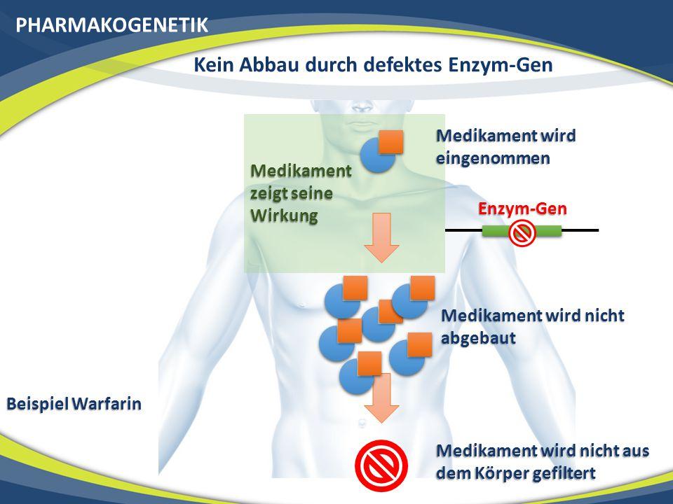 Kein Abbau durch defektes Enzym-Gen