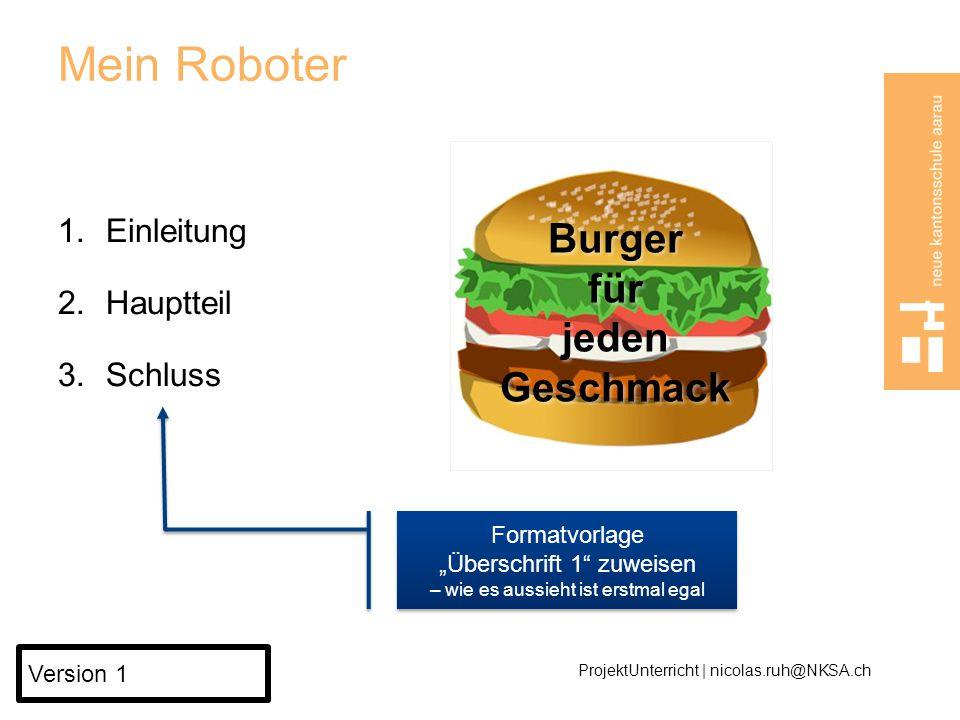 Burger für jeden Geschmack