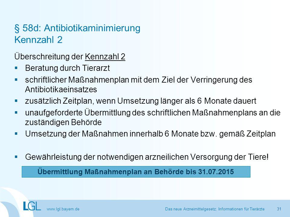 § 58d: Antibiotikaminimierung Kennzahl 2