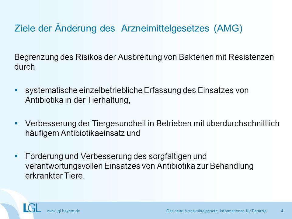 Ziele der Änderung des Arzneimittelgesetzes (AMG)