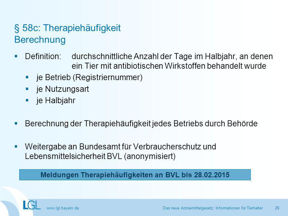 § 58c: Therapiehäufigkeit Berechnung