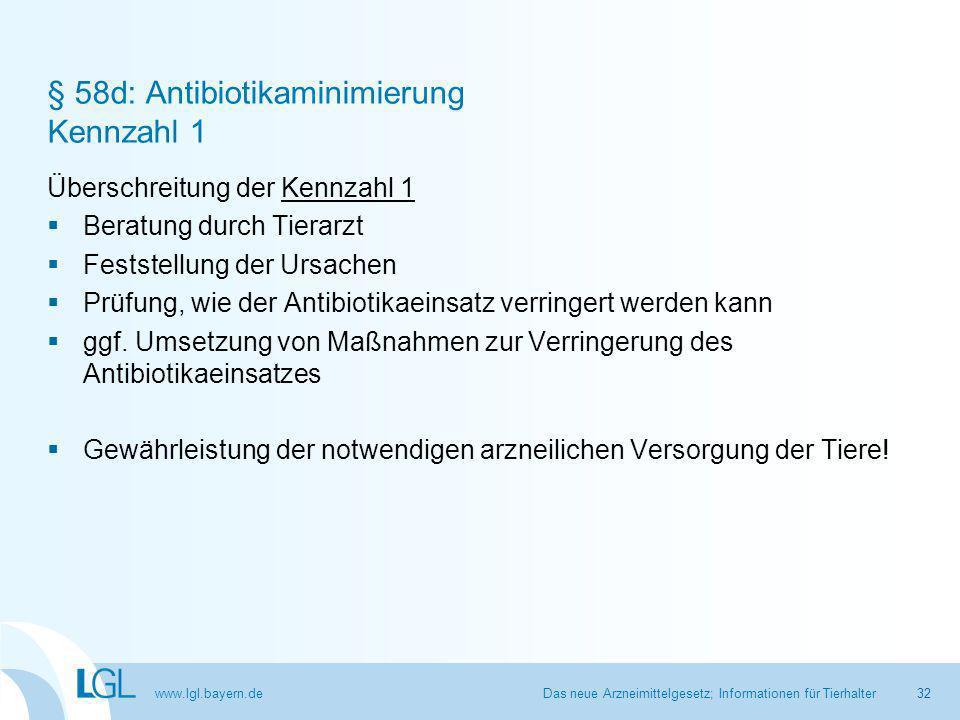 § 58d: Antibiotikaminimierung Kennzahl 1