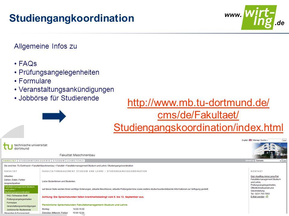 Studiengangkoordination