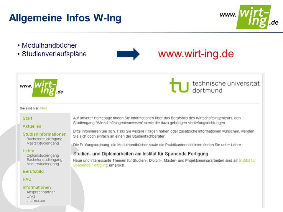Allgemeine Infos W-Ing
