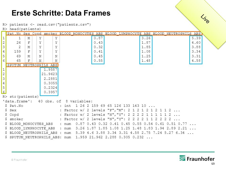 Erste Schritte: Data Frames