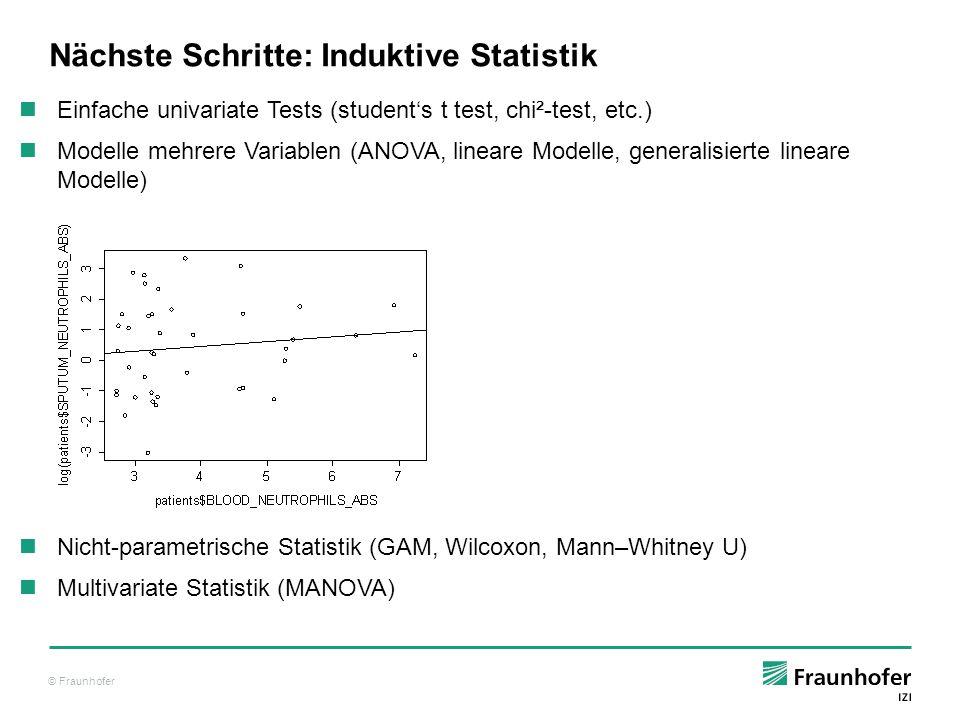 Nächste Schritte: Induktive Statistik