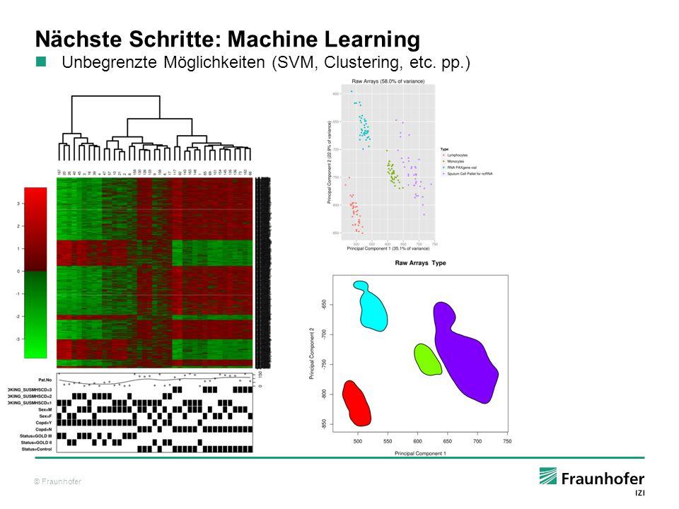 Nächste Schritte: Machine Learning