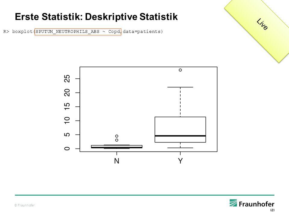 Erste Statistik: Deskriptive Statistik