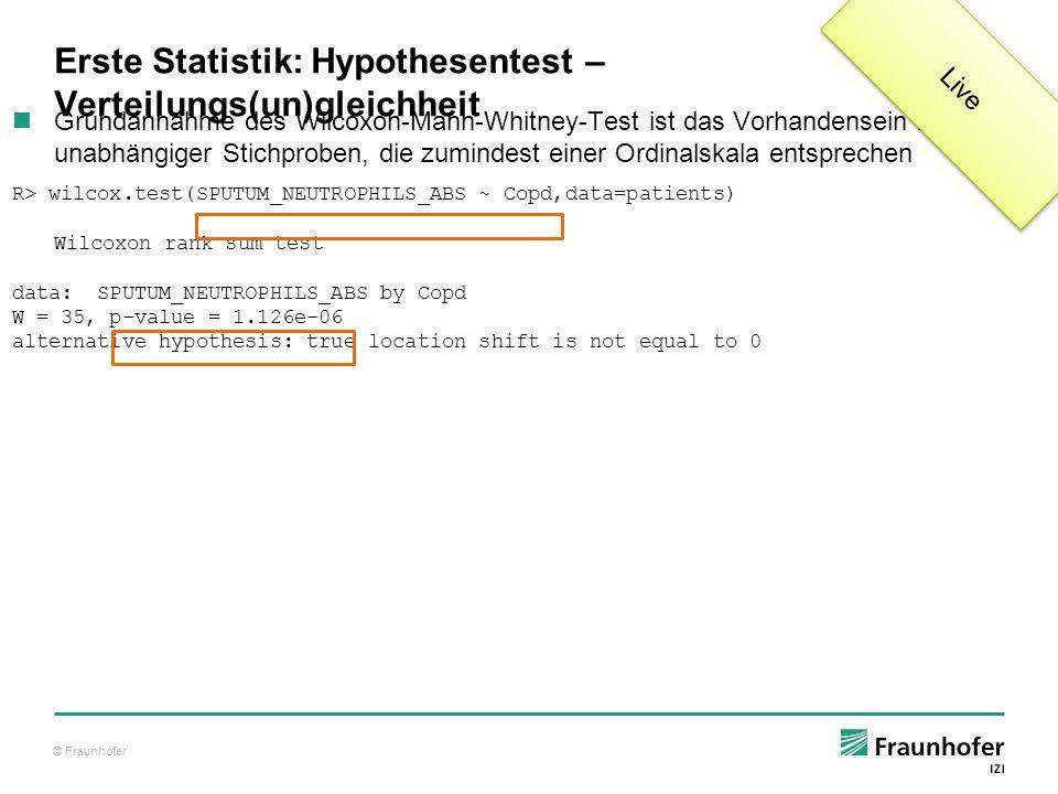 Erste Statistik: Hypothesentest – Verteilungs(un)gleichheit