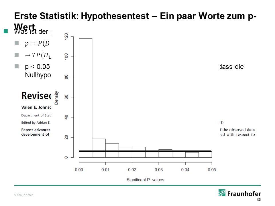 Erste Statistik: Hypothesentest – Ein paar Worte zum p-Wert