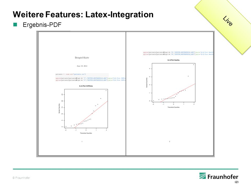 Weitere Features: Latex-Integration