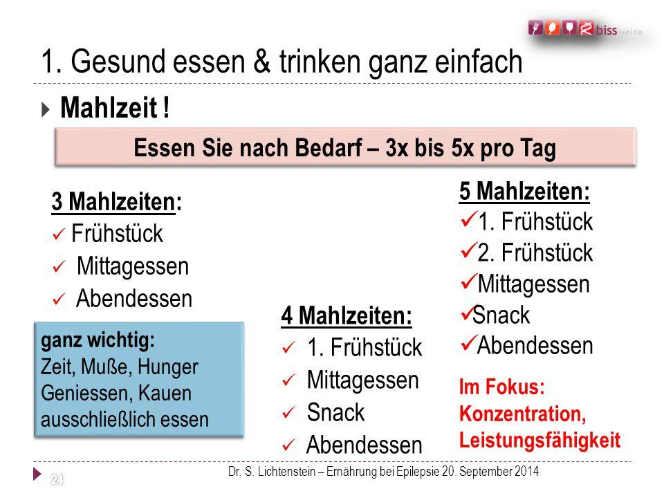 1. Gesund essen & trinken ganz einfach