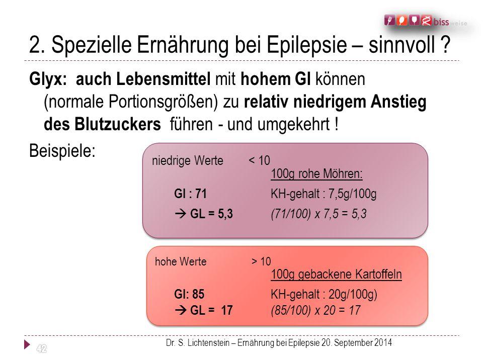 2. Spezielle Ernährung bei Epilepsie – sinnvoll