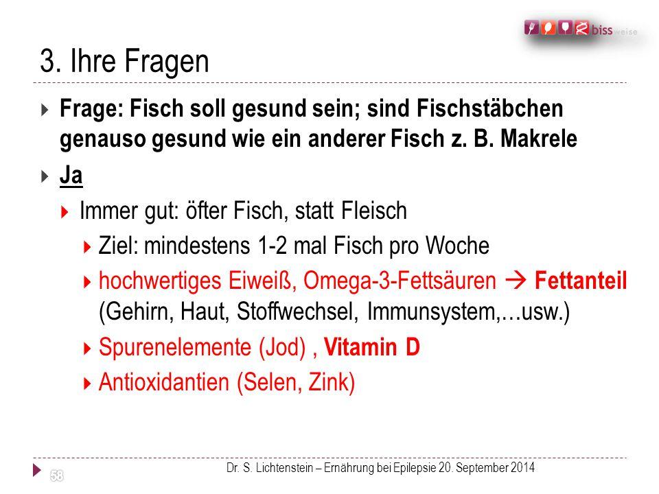 Dr. S. Lichtenstein – Ernährung bei Epilepsie 20. September 2014