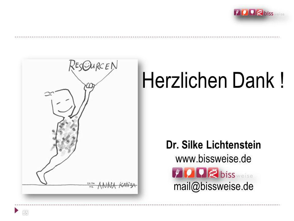 Herzlichen Dank ! Dr. Silke Lichtenstein www.bissweise.de