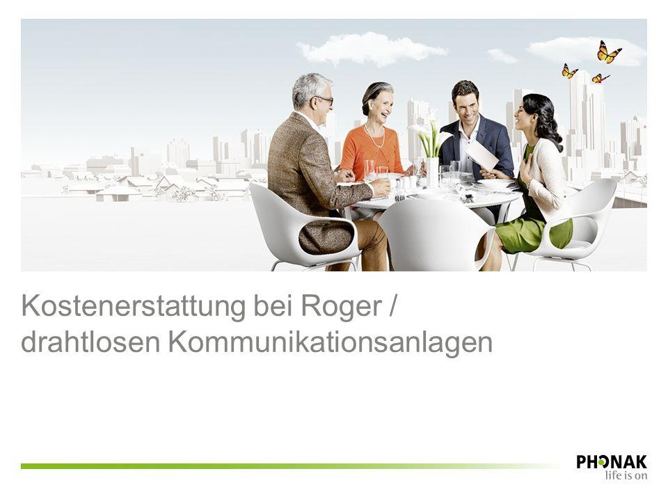 Kostenerstattung bei Roger /