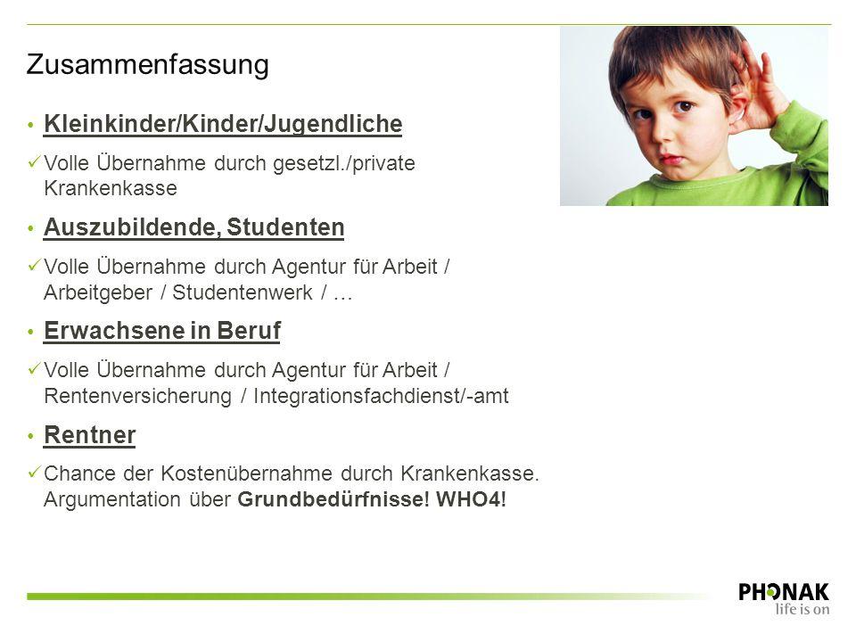 Zusammenfassung Kleinkinder/Kinder/Jugendliche