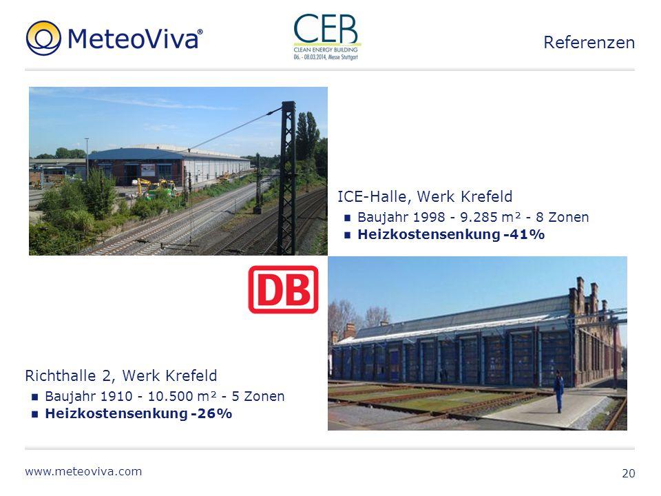Referenzen ICE-Halle, Werk Krefeld Richthalle 2, Werk Krefeld