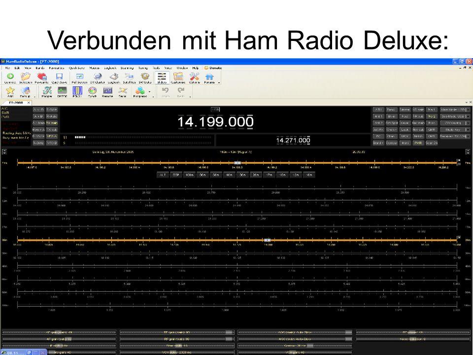 Verbunden mit Ham Radio Deluxe: