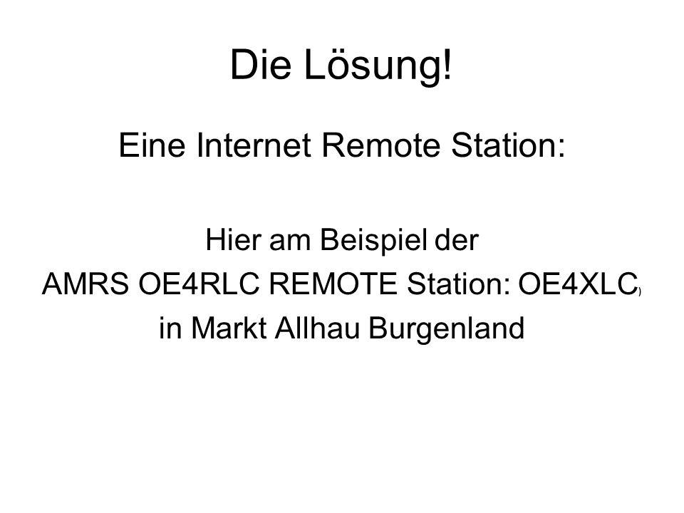 Die Lösung! Eine Internet Remote Station: Hier am Beispiel der