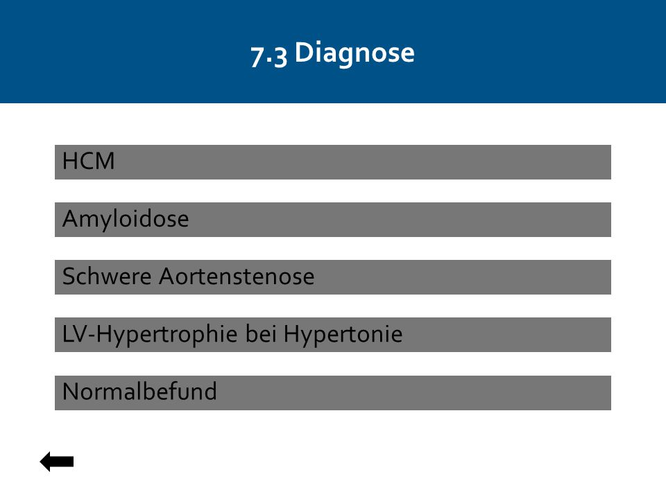 7.3 Diagnose HCM Amyloidose Schwere Aortenstenose