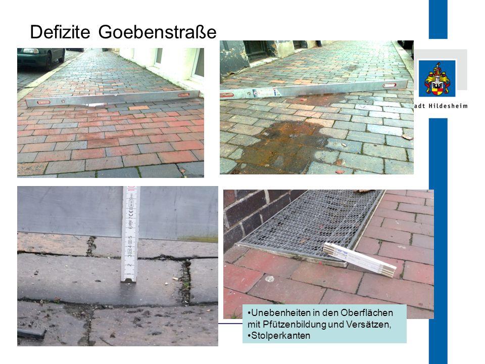 Defizite Goebenstraße