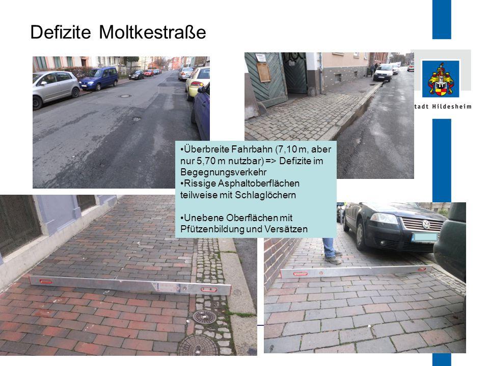 Defizite Moltkestraße