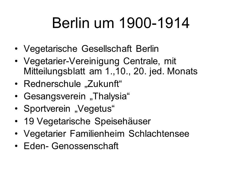 Berlin um 1900-1914 Vegetarische Gesellschaft Berlin