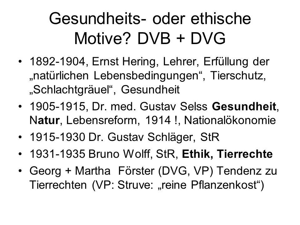Gesundheits- oder ethische Motive DVB + DVG