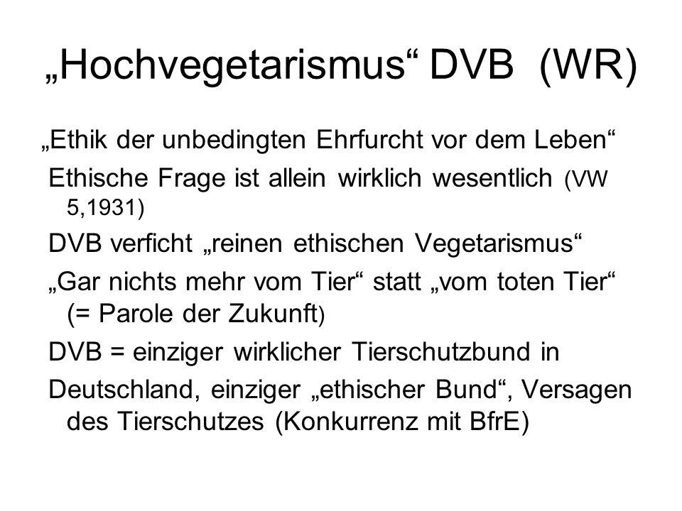 """""""Hochvegetarismus DVB (WR)"""