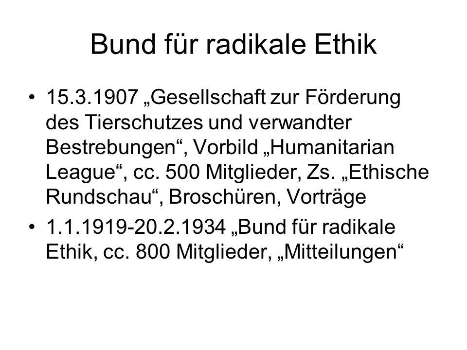Bund für radikale Ethik