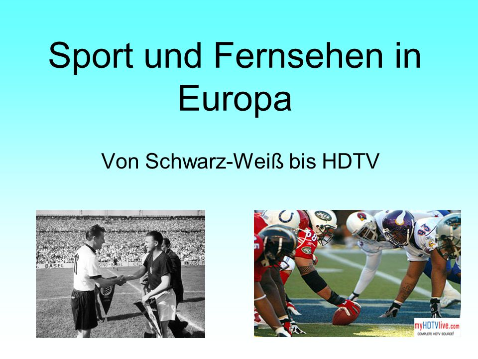 Sport und Fernsehen in Europa