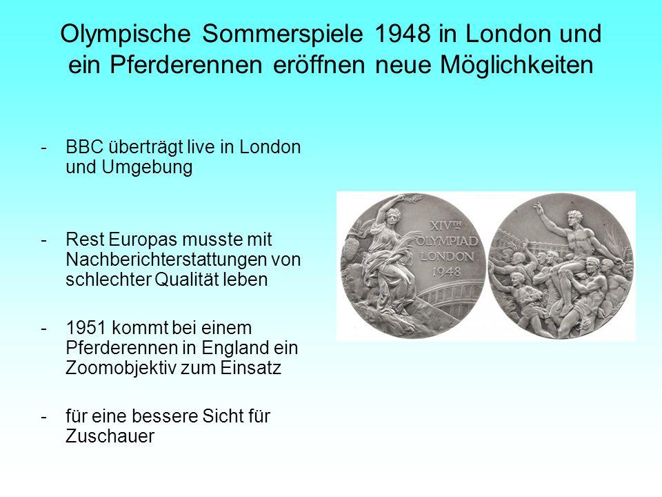 Olympische Sommerspiele 1948 in London und ein Pferderennen eröffnen neue Möglichkeiten
