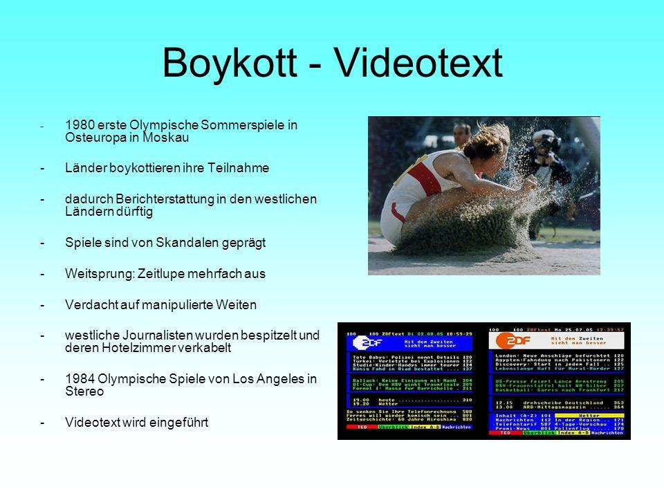 Boykott - Videotext - Länder boykottieren ihre Teilnahme