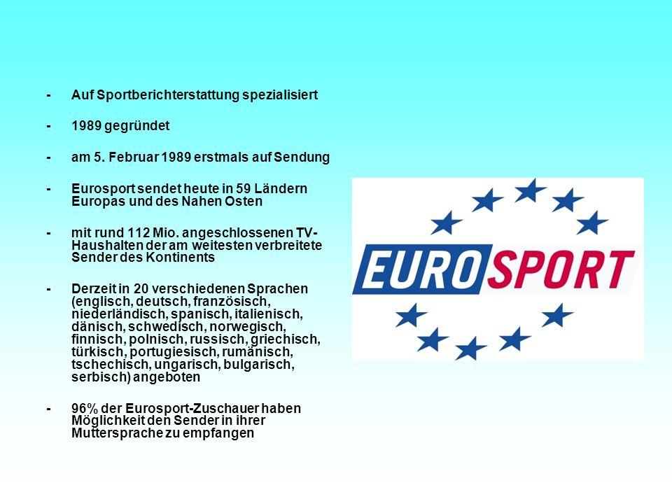 - Auf Sportberichterstattung spezialisiert