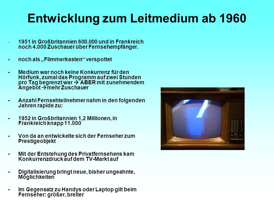 Entwicklung zum Leitmedium ab 1960