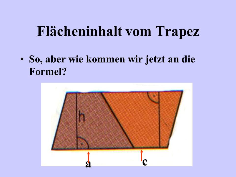 Flächeninhalt vom Trapez