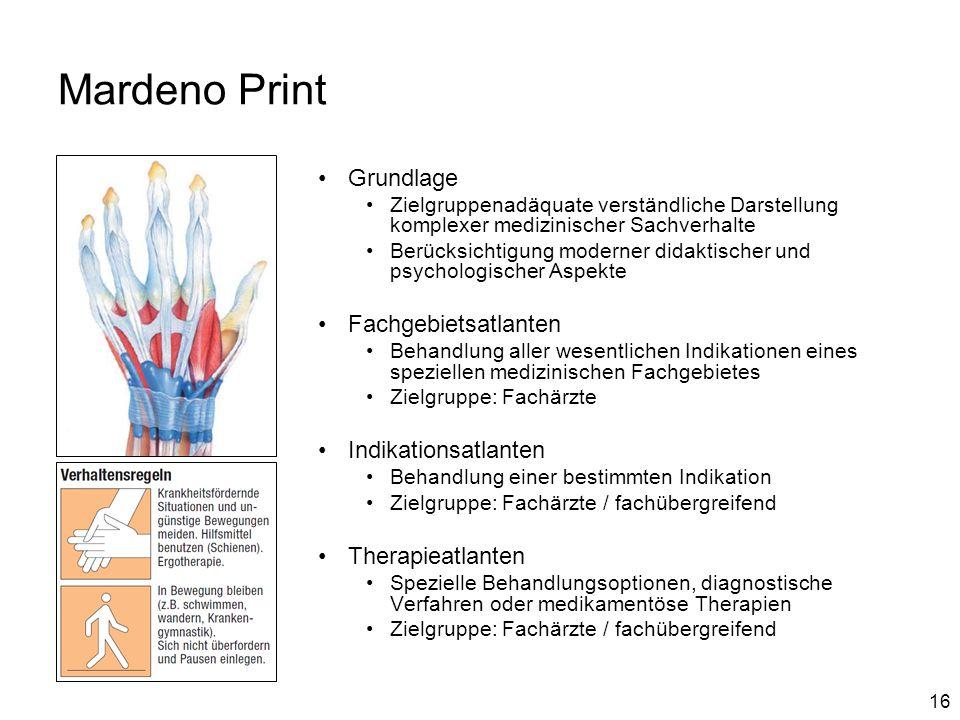 Mardeno Print Grundlage Fachgebietsatlanten Indikationsatlanten
