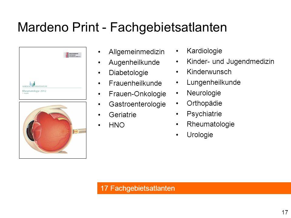 Mardeno Print - Fachgebietsatlanten