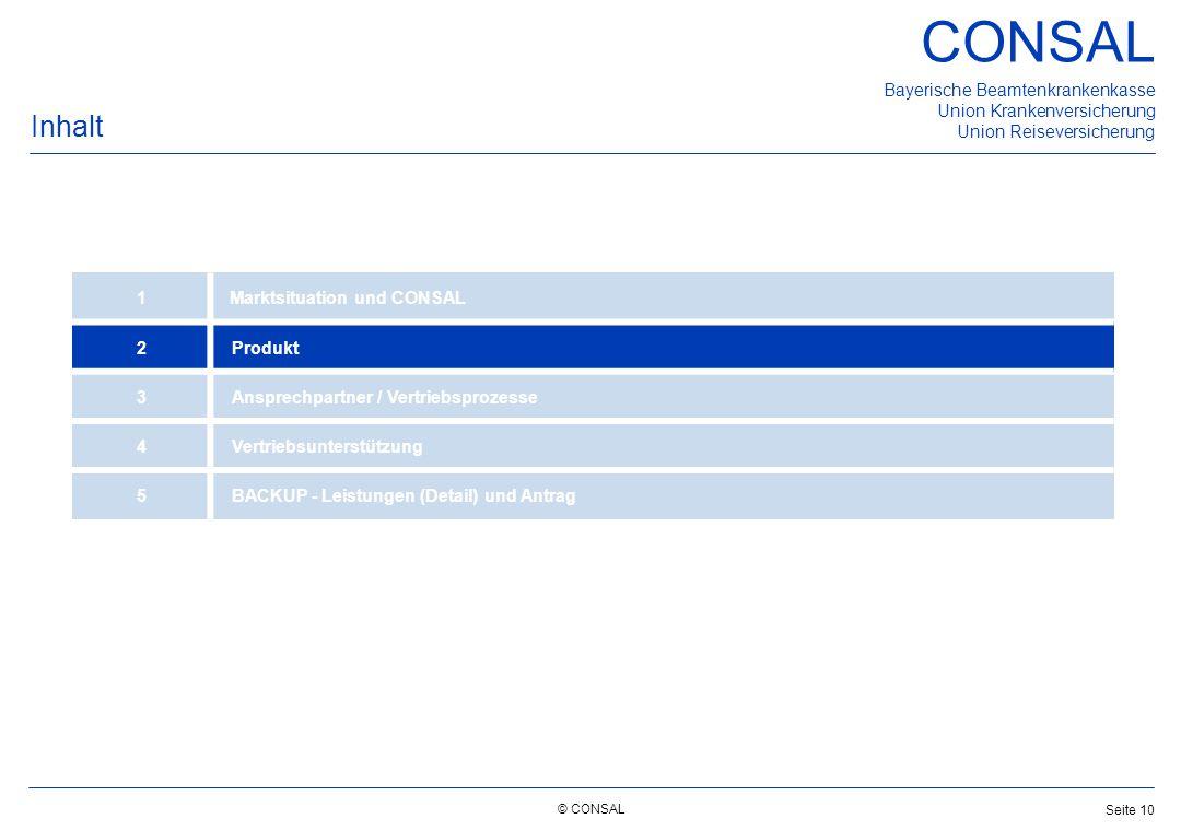 Inhalt 1 Marktsituation und CONSAL 2 Produkt 3