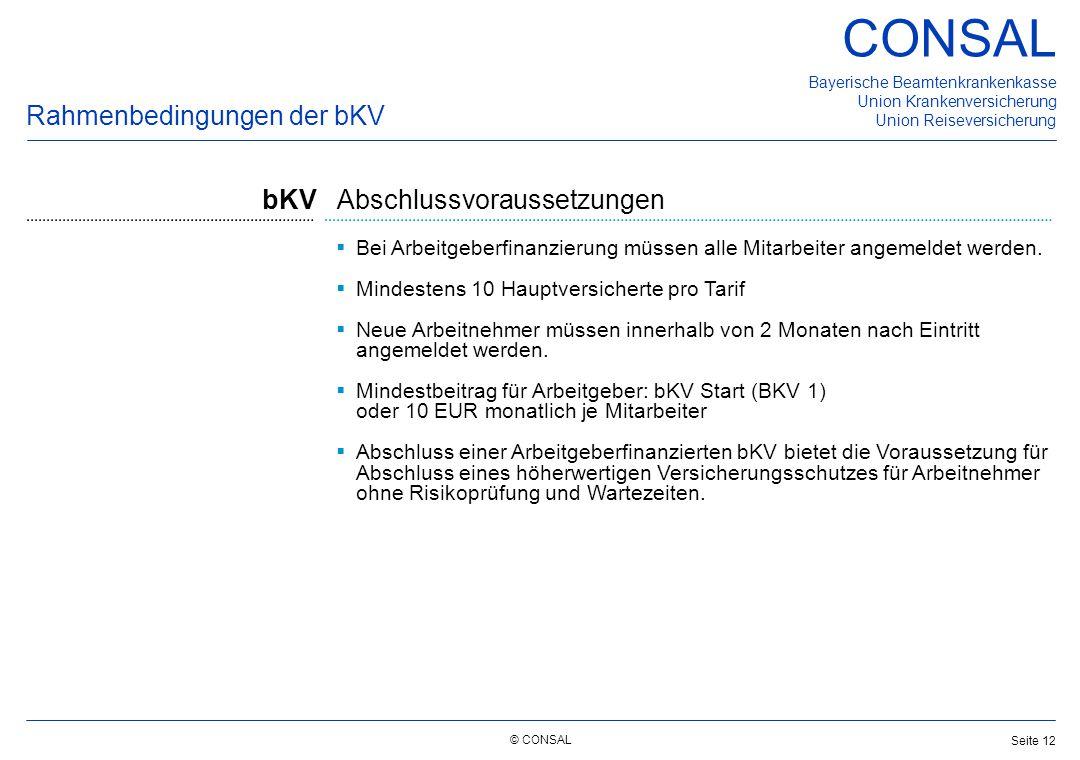Rahmenbedingungen der bKV