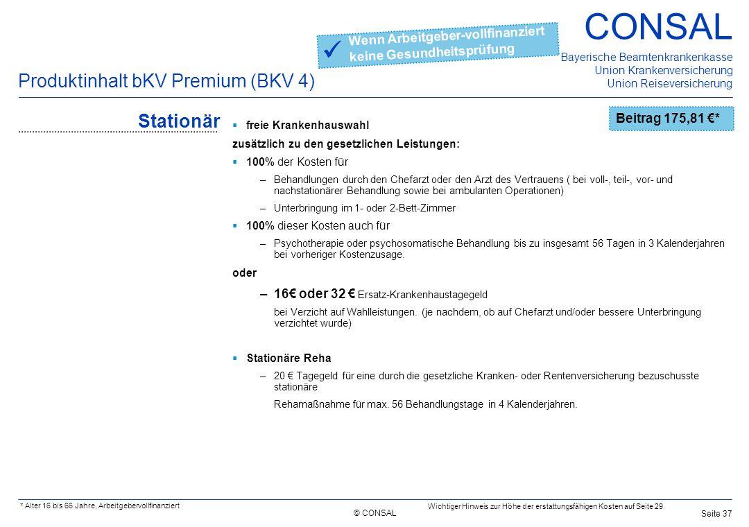  Produktinhalt bKV Premium (BKV 4) Stationär