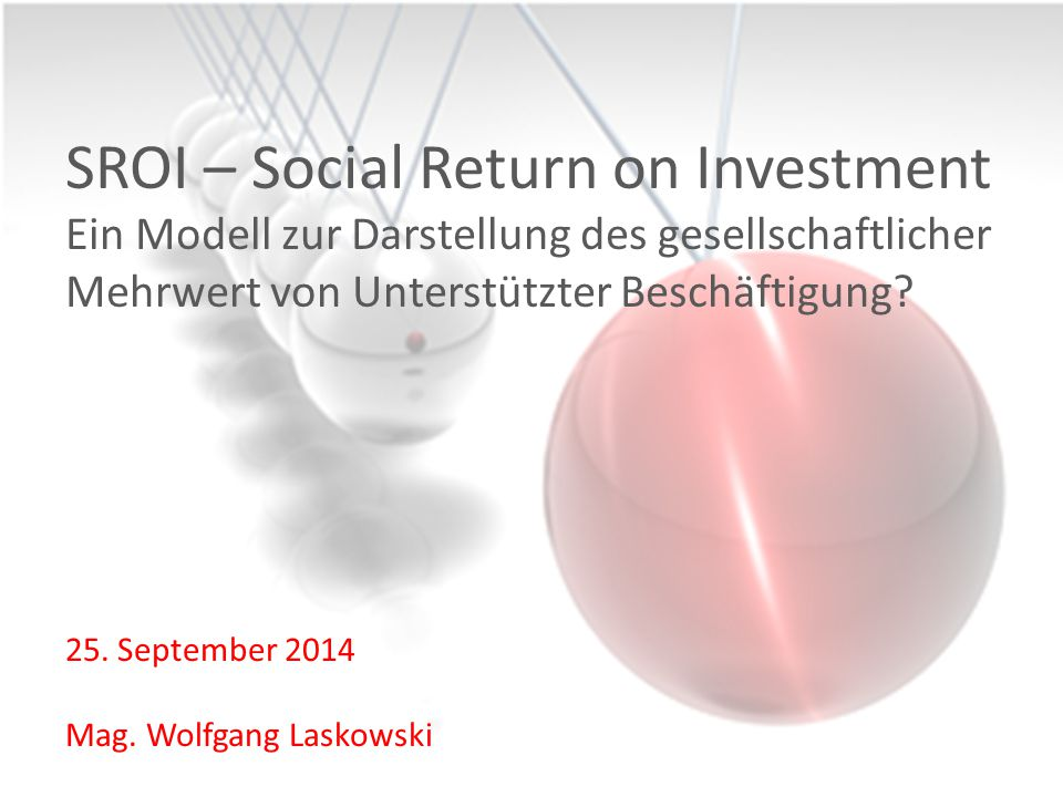 25. September 2014 Mag. Wolfgang Laskowski