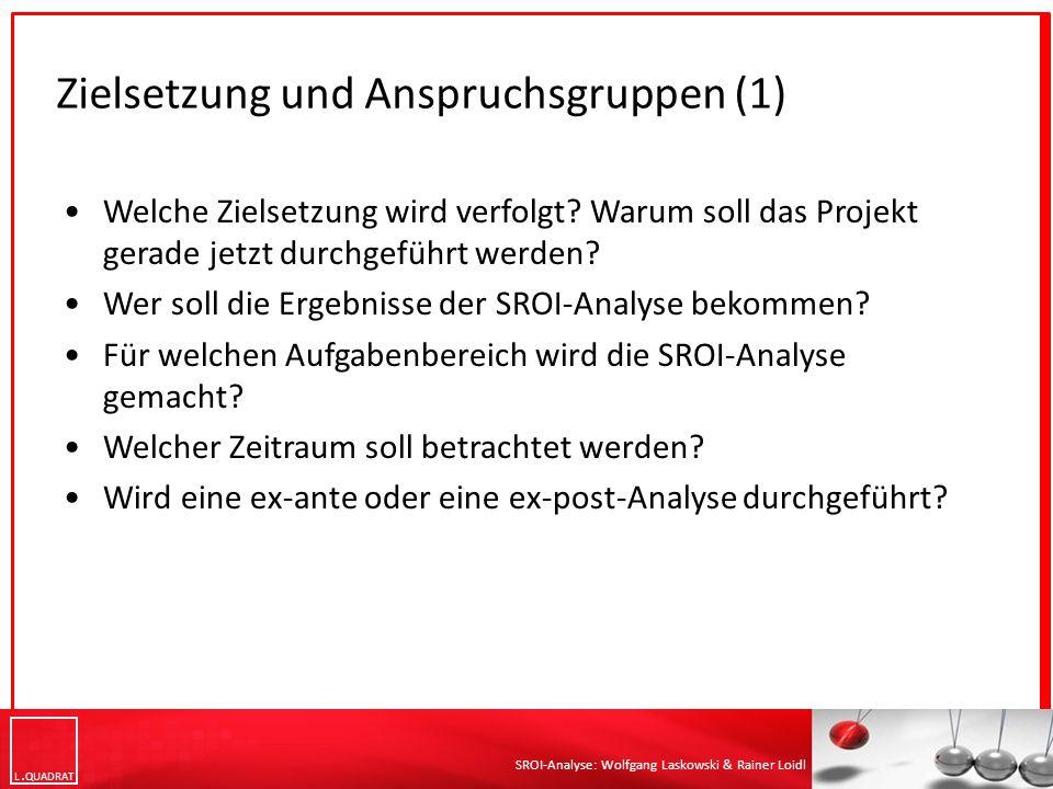 Zielsetzung und Anspruchsgruppen (1)