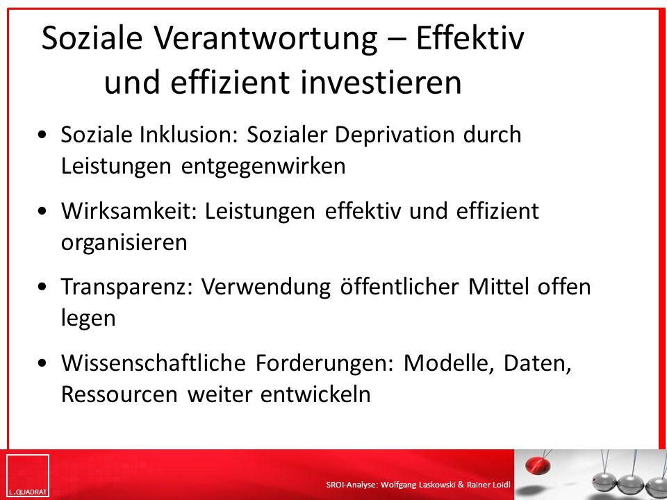 Soziale Verantwortung – Effektiv und effizient investieren