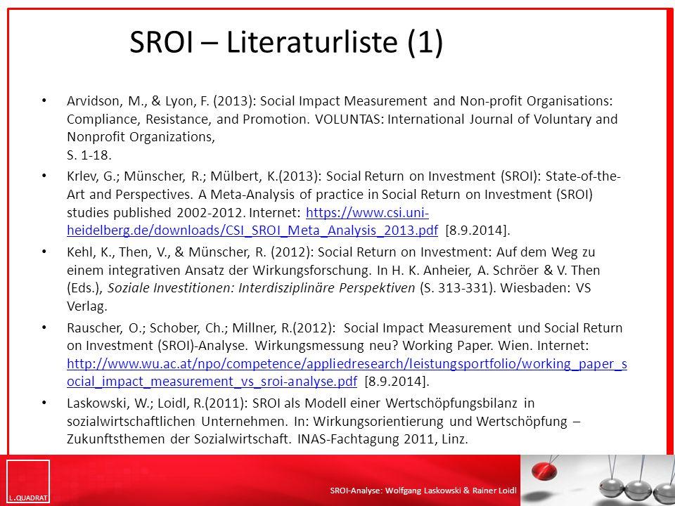 SROI – Literaturliste (1)