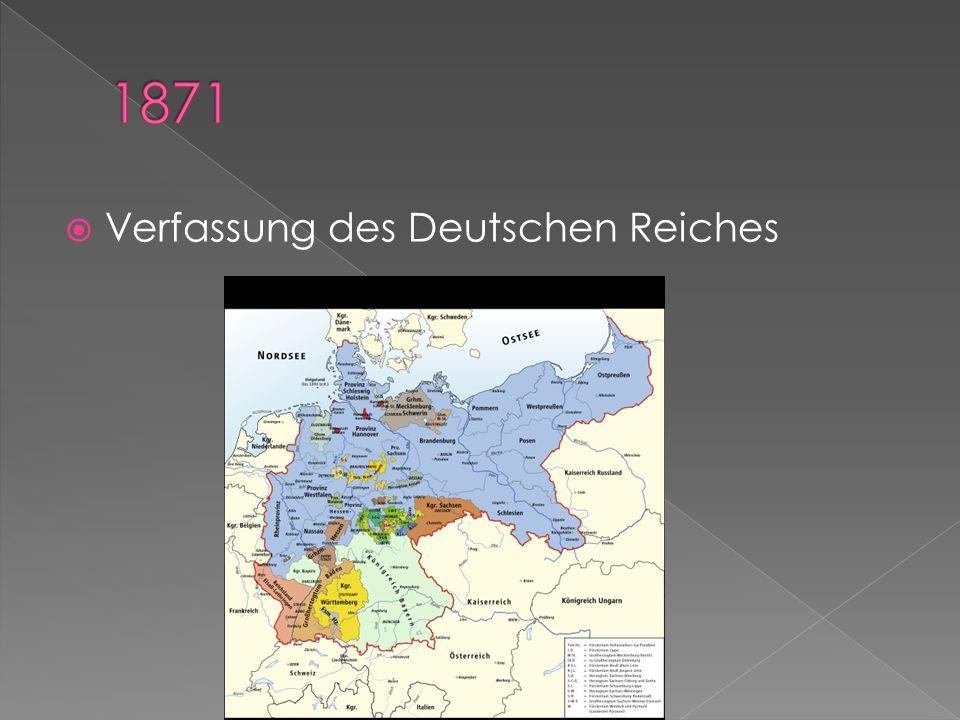 1871 Verfassung des Deutschen Reiches