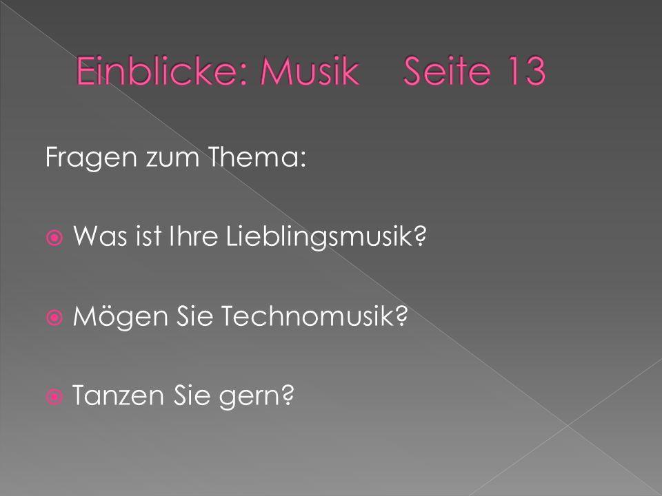 Einblicke: Musik Seite 13