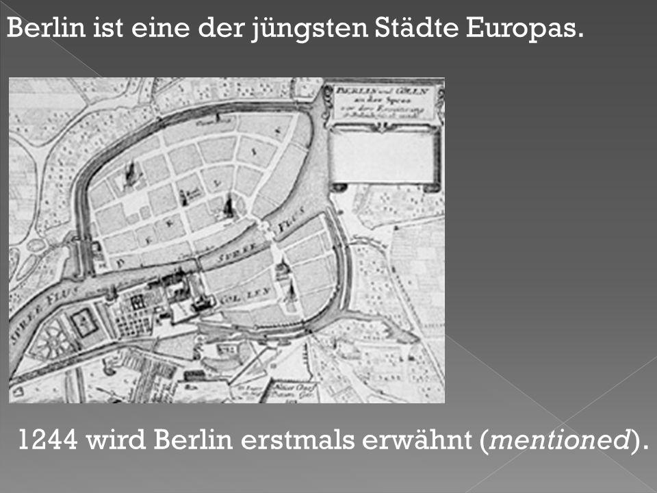 Berlin ist eine der jüngsten Städte Europas.