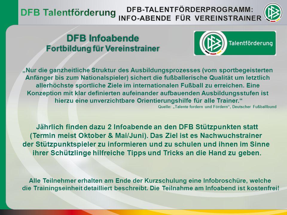 DFB Talentförderung DFB Infoabende